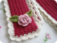 Pretty crochet scarf.