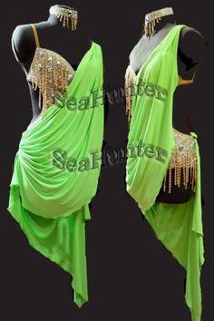 Ballroom Multi-Color lady rumba samba salsa latin chacha Dance Dress US 6 # 1533