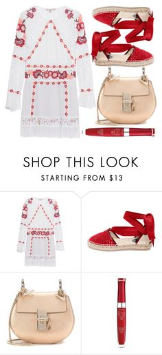 """street style"" by sisaez ❤ liked on Polyvore featuring For Love & Lemons, Oscar de la Renta, Chloé and Bourjois"