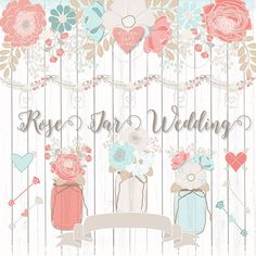 Premium Rose wedding flower, wreath, banner, wreath, flower clipart, wood digital, rustic clipart, arrows, spring flower digital, mason jar