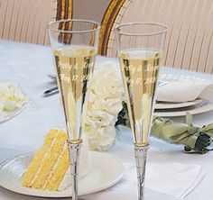 Royal Wedding Flutes #theweddingoutlet