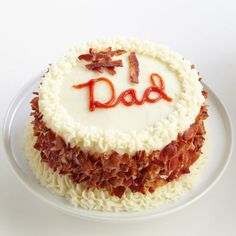 Father's Day Bacon Cake... we suggest making this with Hormel Natural Choice Uncured Bacon ;)