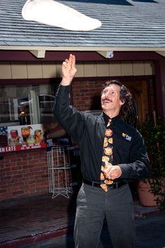 Can you toss a pizza like Dan?  #PizzaManDans #Pizza #Hungry #PizzaLover #Lunch  © PizzaMan Dan's/SunRidge Photo