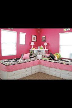Twin girls bedroom