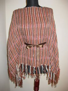 Free Shipping Hand woven one of a kind poncho maxi by LunaPortenia, $149.00