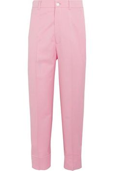 Gucci - Cropped Wool-blend Straight-leg Pants - Baby pink - IT