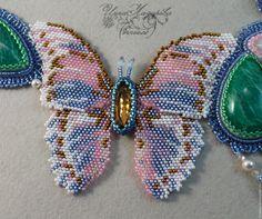 """Купить Колье """"Отражение весны"""" - весна, вечернее украшение, весеннее настроение, весенний, бабочка, бабочки"""