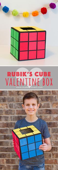 Hot Air Balloon and Rubik's Cube Valentine Boxes!