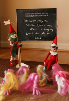Elf on a Shelf ideas my girls will love this