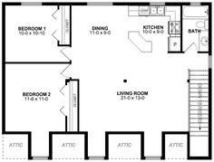 Garage Plan 99939 Level Two