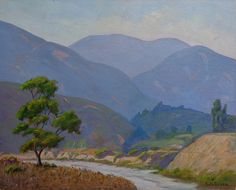 "Charles B. Green ""Road in Eaton Canyon"" Altadena 16x20 oil on board - Vander Molen Fine Art"