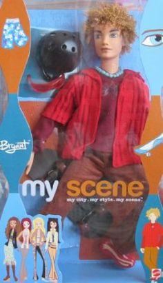 Barbie My Scene BRYANT Doll w SKATEBOARD & Helmet (2003) by Mattel. $35.98
