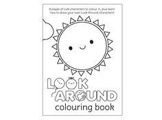 Look Around PDF - Kawaii Colouring Book for printing (2.00 GBP)