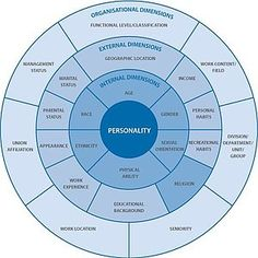 Dimensions of Diversity wheel summarizes the complexities of understanding diversity and the many elements that shape each of us. What Is Diversity, Cultural Diversity, Learn To Fight Alone, Inclusive Education, Organizational Behavior, Religion, Change Management, Emotional Intelligence, Along The Way