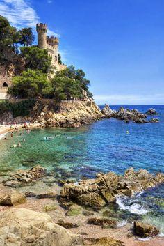 Lloret de Mar - Sa Caleta - Costa Brava (Espagne) I was here 3 days ago! <3 <3
