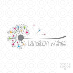 Exclusive Customizable Logo For Sale: Dandelion Wishes | StockLogos.com