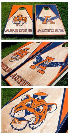 Hand painted Custom Auburn Football Cornhole Boards.