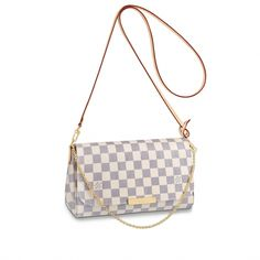 15526d58eb70 Louis Vuitton Favorite MM - N41275 Color  White and Gray Checkered   Louisvuittonhandbags White Louis
