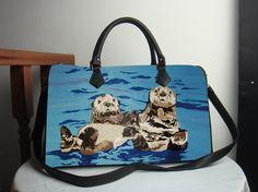 Sea Otters Vegan Leather Handbag On Sale  Extra by SalvadorKitti, $104.98