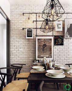 매력적인 북유럽 아파트 인테리어 안녕하세요? 오늘 소개해드릴 집은 다양한 요소로 알차게 꾸민 북유럽에서 모티브를 딴 아파트 인테리어입니다. 노르딕 디자인을 베이스로 하였지만 인더스트리얼 요소를 중간중간 가미하여 지루하지 않고 독특하고 매력적입니다. 거실은 아파트 구조에서 흔하게 볼 수 있는 tv와 소파로 이루어져 있습니다. 부엌공간이 제일 작아 소파 옆으로 식탁을 배치하였습니다. 가장 포인트가 되는..