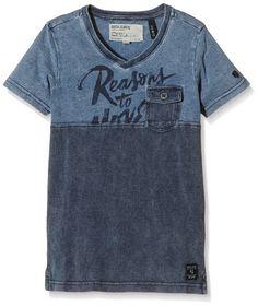 Garcia Kids Jungen T-Shirt O63416, Mehrfarbig, Gr. 164 (Herstellergröße: 164/170), Mehrfarbig (indigo 1050)