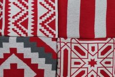 Modern Patterned Holiday Blankets from Happy Habitat!