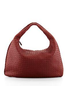 Bottega Veneta Intrecciato Hobo Bag - Classic bag in dark red