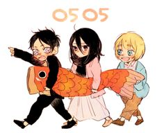Eren, Mikasa, and Armin // AoT
