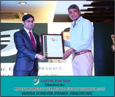 Awarded the Most Promising Dermatologist in Delhi/NCR by Brand Achievers. #brandachiever #bestdermatologist #happy
