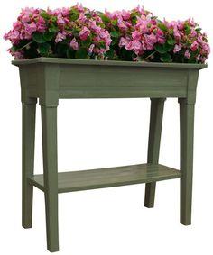 Upright Raised Deck Patio Porch Herb Flower Garden Plastic Planter Container Box #AdamsManufacturing