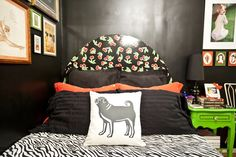 'Dark colors in the bedroom are conducive to sleep and surprisingly made the room feel muc...