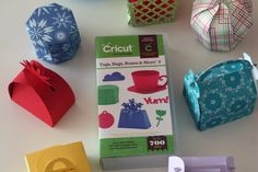 cricut projects | Look what I created with it! I can't wait to use these favor boxes and ...