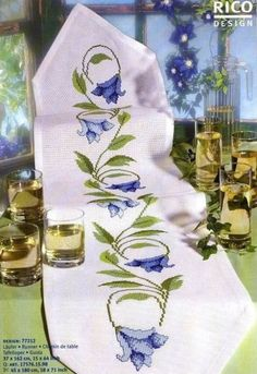 sm Cross Stitch Borders, Cross Stitch Flowers, Cross Stitch Designs, Cross Stitching, Cross Stitch Patterns, Embroidery Needles, Cross Stitch Embroidery, Rico Design, Cross Stitch Needles