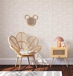 Removable Wallpaper - Spots (Linen) - UP TO 250cm (2.5m) / 390cm wide (includes 6 panels)
