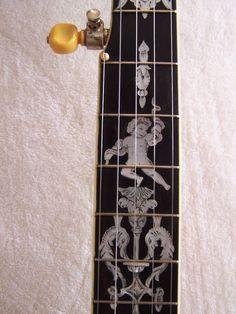 Vintage Fairbanks/Vega 5 string open back banjo Banjos, Gumbo, Vintage Photographs, Cool Artwork, Door Handles, Cool Stuff, Detail, Antiques, Beautiful