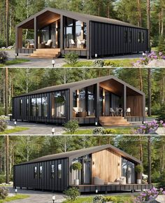 Tiny House Cabin, Tiny House Design, Contener House, Usa House, Cabin House Plans, Modern Tiny House, Small House Plans, Tiny Houses, Shipping Container Home Designs