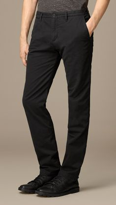 Flannel-Lined Cotton Chinos | Burberry