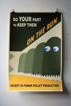 Propaganda Gaming Posters - Keep them on the Run by Steve Thomas