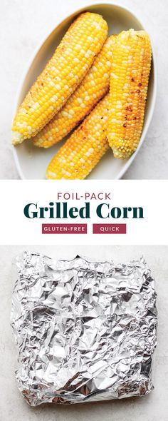 Grilled Corn in Foil (perfect summer side!) - Fit Foodie Finds Healthy Cookie Recipes, Vegetarian Recipes Easy, Healthy Baking, Easy Recipes, Easy Meals, Summer Grilling Recipes, Healthy Grilling, Summer Recipes, Grilled Tofu