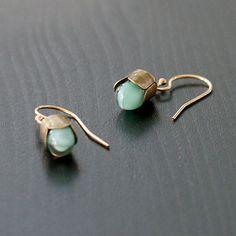 Clementine Shop — Blue Teardrop Earrings