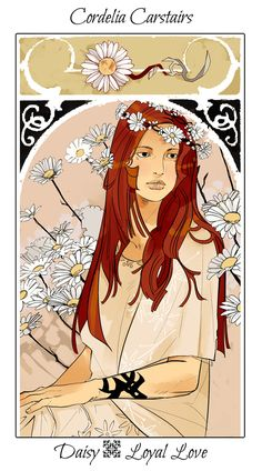 Cordelia Carstairs with daisies v.2, The language of flowers (picked by C.Clare, art by C.Jean)