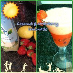 Homemade coconut & strawberry lemonade#suefit#fuelfit