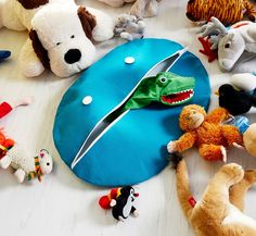 Tee ite: Onko lapsella paljon pehmoleluja? Ompele niille oma paikka. vauva & Meidän perhe