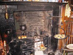 The Cast Iron Range in the Kitchen Dennis Severs House 18 Folgate st Spitalfields London