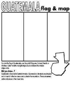Print out this printable of the Guatemala flag to learn more about the country where your sponsored child lives.