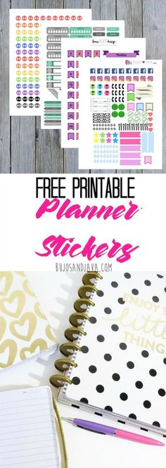 Grab these colorful planner stickers, perfect for your Bullet Journal, Erin Condren planner, calendar, or day planner. Get organized with planner stickers you can print from your own home.