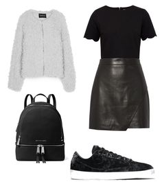 """Back 2 skool #1"" by karinstyleonly on Polyvore featuring NIKE, Ted Baker, Michelle Mason and MICHAEL Michael Kors"