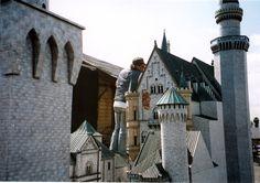 Neuschwanstein Castle under construction at WonderWorks.