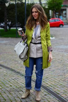 trench coat and layers street style. Different, Trench, Outfit Of The Day, Layers, Casual Outfits, Vogue, Vest, Street Style, My Style