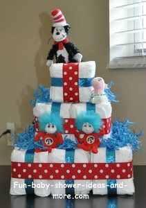 A cute square diaper cake with complete instructions! Definitely making one for the next baby shower I go to.